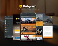 Rubyonic: Mobile App UI