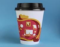 October studio coffee cup