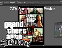 Refazendo meu poster Grand Theft Auto San Andreas