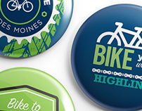 Highline College - Bike To Highline Buttons