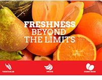 Fruits web design
