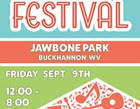 Rack Card for Buckhannon's Art Festival