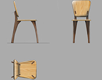 Wooden chair first concept