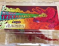 「新鮮雷射三角龍」玩具包裝, 設計 | X-Ray Triceratops!