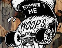 Skateboard cat 'WOOPS' REMEMBER ME!