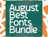 AUGUST BEST FONTS BUNDLE