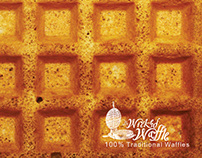 Wicked Waffle Postcard Adverts