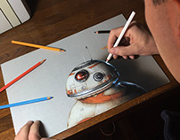 Drawing BB-8 from Star Wars