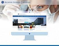 Richter Gedeon webdesign