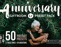 Anniversary - 50 Lightroom Presets Collection