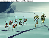 Game design and character concept art for 2D indie game