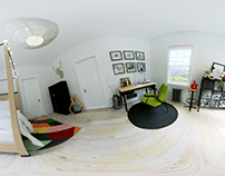 3D Interior project - Scandinavian room 360 panoram