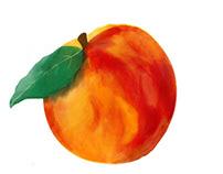 Peach in Procreate