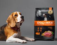 For Best Friends: Design of DOG&MAN Dog Food Package