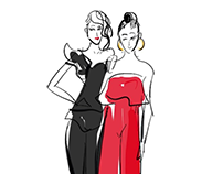 Variety: Power of Women Live Fashion Illustrations