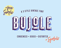 Free* Bujole – A 3 Style Vintage Font