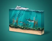 3D sea photo manipulation