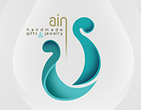 visual identity for Ain logo-handmade gifts & jewelry