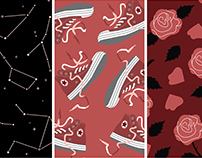Seamless Pattern Collection: Cosmic Goth