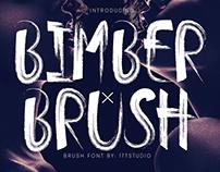 Free - Bimber Brush Font