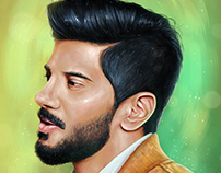 Dulquer Salmaan | Portrait Digital Painting