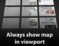 How to always show map in viewport for all material