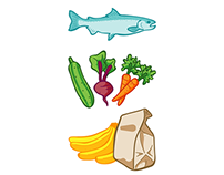 Various Graphic Icons for Sun Basket