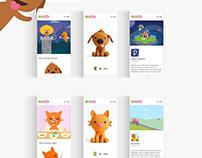 Kids Game, Sago Mini UI/UX Design