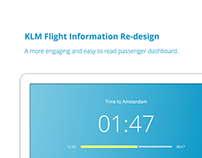 KLM Flight Information Concept