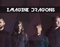 "Diseño web ""IMAGINE DRAGONS"""