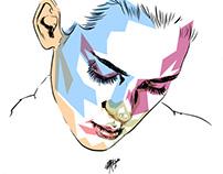 ink & coloured shards