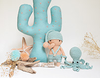 Sea friends: octopus, sleeper & starfish