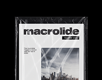 Macrolide vol.01 magazine brand   Booklet design
