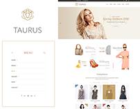 Taurus - PSD template minimal blog