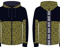 Fashion flat design of hooded jacket