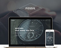 Fossil Watch Shop Concept