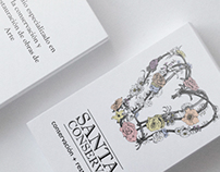 Santa Conserva Illustrated business cards & sign