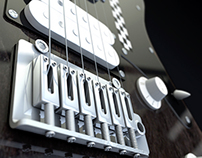 Electric Guitar 3D Model - Cinema 4D