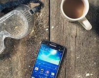 Maya Linhares-Marx.Samsung phone indurance