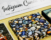 Instragram Canvas Wrap Promo