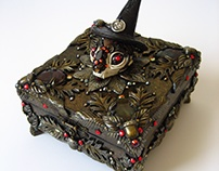 COVEN COMPANION Cat Skull Spell Box
