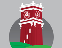 Washington State University Clocktower Graphic