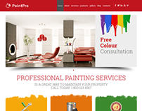 Painting Company Responsive Wordpress Template