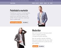 MichalHalacka.cz - Prezentační web, Corporate Design