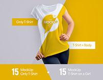 30 Mock-Ups T-Shirt ( + 1 free mockup)