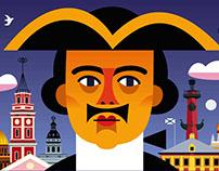 Playbills for KUKFO puppet theater (Saint Petersburg)