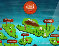 Social Islands of Valhalla