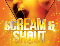 Scream And Shout Party Flyer
