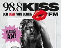 Plakatkampagne für KissFM