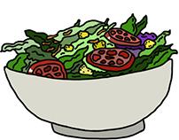 Digital Food Illustrations